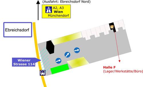 Anfahrtsplan MB Kassen und Schanksysteme GmbH
